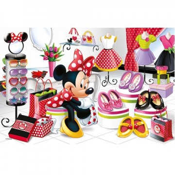 Puzzle Minnie Mouse la shopping 60 piese