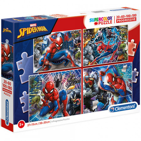 Puzzle Spiderman 4 in 1 Clementoni 360 piese