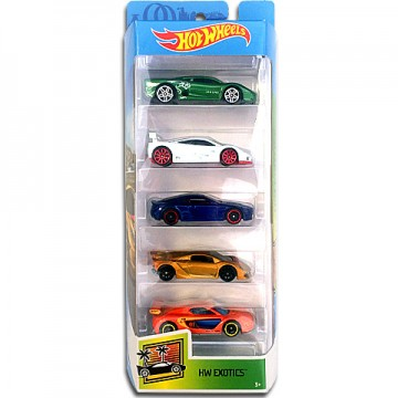 Set 5 masinute metalice Hot Wheels Exotics