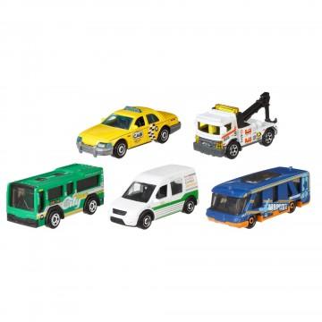 Set 5 masinute metalice Matchbox Metro Transit