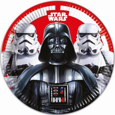 Set 8 farfurii de unica folosinta Star Wars 23 cm
