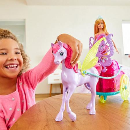 Set de joaca Pegasus si papusa Barbie Dreamtopia
