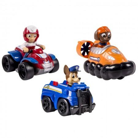 Set de joaca Ryder, Chase si Zuma Racers Patrula Catelusilor