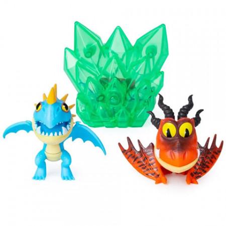 Set de joaca Snotlout si Stormfly cu cristal luminos How to Train Your Dragon