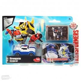 Masinuta metalica Strongarm in cutie Transformers Robots in Disguise
