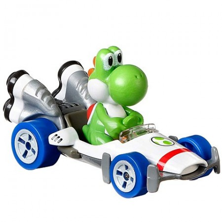 Masinuta metalica Yoshi Mariokart Hot Wheels