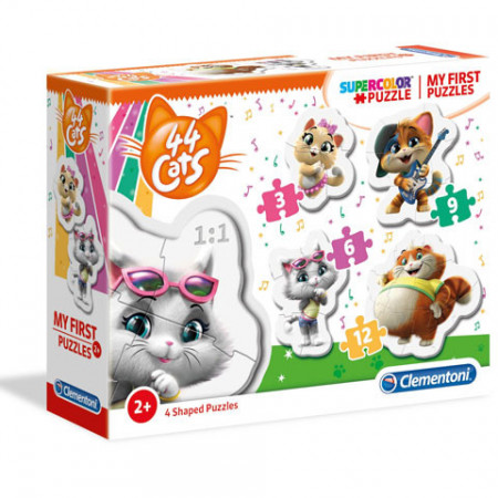 Puzzle 4 in 1 44 Cats Clementoni 30 piese
