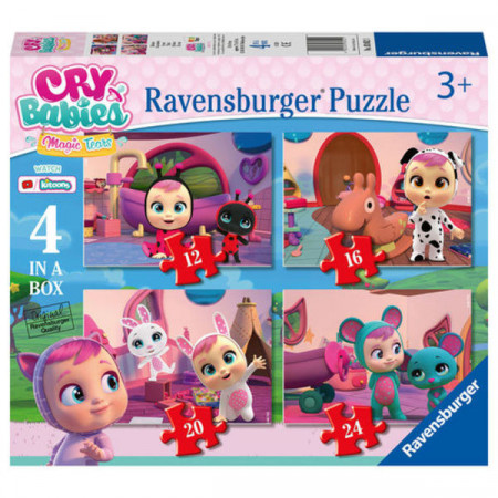 Puzzle Cry Babies 4 in 1 Ravensburger 72 piese