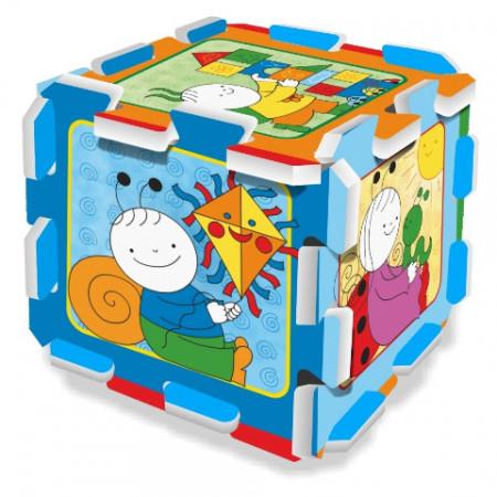 Puzzle din spuma Bobiță si Buburuză 8 piese