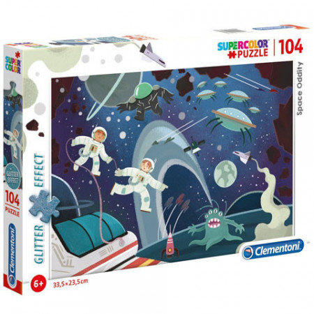 Puzzle Glitter Space Oddity Clementoni 104 piese