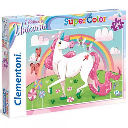 Puzzle I Believe in Unicorns Clementoni 104 piese