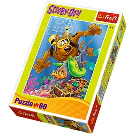 Puzzle Scooby-Doo si comoara 60 piese