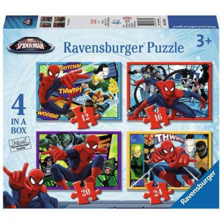 Puzzle Spiderman 4 in 1 Ravensburger 72 piese