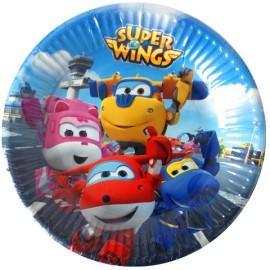 Set 8 farfurii de unica folosinta Super Wings