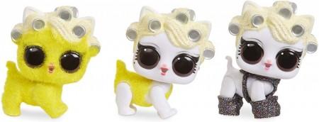 Set animalut LOL Surprise Fuzzy Pets si 6 accesorii