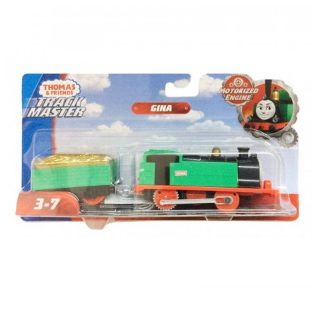 Trenulet Gina Locomotiva Motorizata cu Vagon Thomas&Friends Track Master