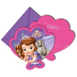 Invitatii pentru petrecere Printesa Sofia