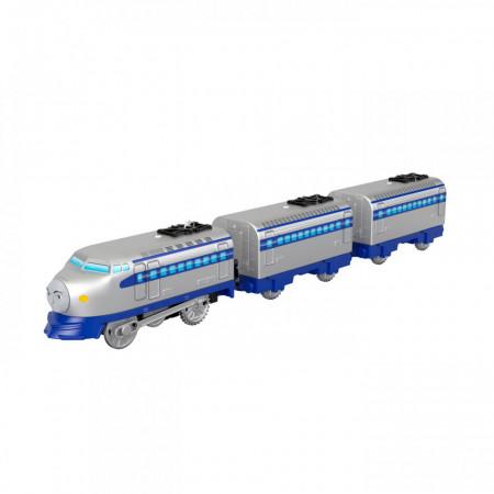 Locomotiva motorizata Kenji cu doua vagoane Thomas si Prietenii Track Master