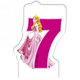Lumanare tort cifra 7 Aurora Printesele Disney