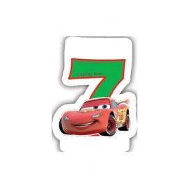 Lumanare tort cifra 7 Fulger McQueen Cars