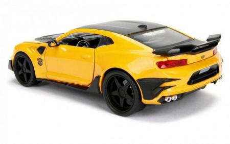Masinuta metalica Bumblebee Chevy Camaro cu moneda Transformers 21 cm