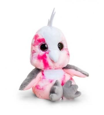 Papagal de plus roz Animotsu Ochi Mari 15 cm
