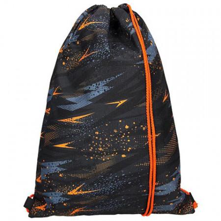 Sac de umar cu snur Spirit negru-portocaliu