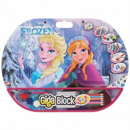 Set creativ Anna si Elsa Frozen Giga Block 5 in 1