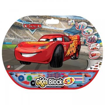 Set creativ Fulger McQueen Cars Giga Block 5 in 1