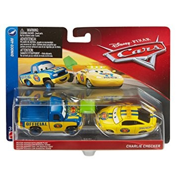 Poze Set de masinute metalice Dexter Hoover si Charlie Checker Disney Cars