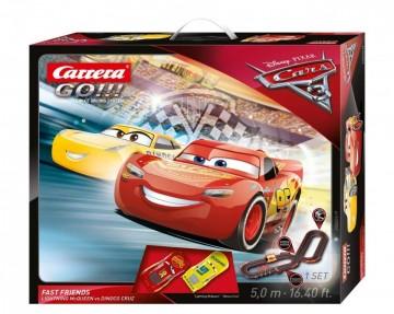 Circuit electric masinute Fulger McQueen si Cruz Ramirez Cars 3 Carrera Go 5 m
