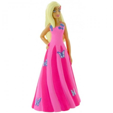 Poze Figurina Barbie in rochita roz Barbie Dreamtropia