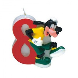 Lumanare tort cifra 8 Goofy Disney