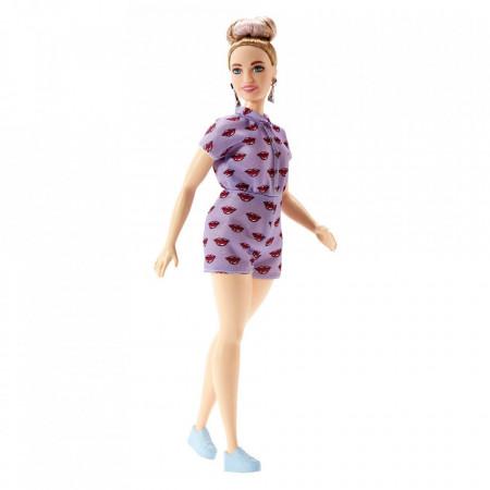 Papusa Barbie in salopeta mov Barbie Fashionistas