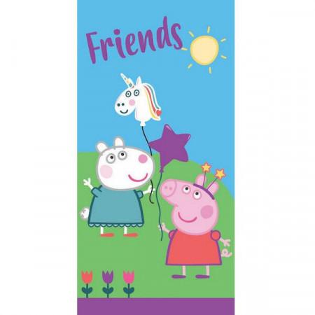 Prosop bumbac Friends Purcelusa Peppa 140x70 cm