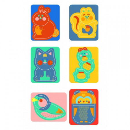 Puzzle Baby  6 in 1 Animale Clementoni