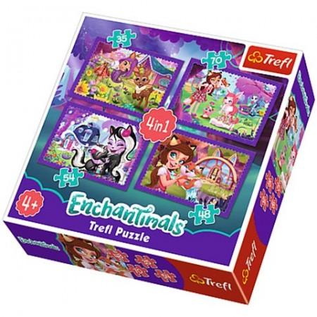 Puzzle Enchantimals 4 in 1