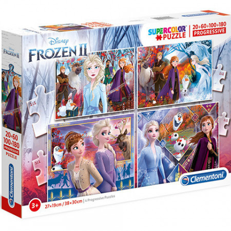 Puzzle Frozen 4 in 1 Clementoni 360 piese