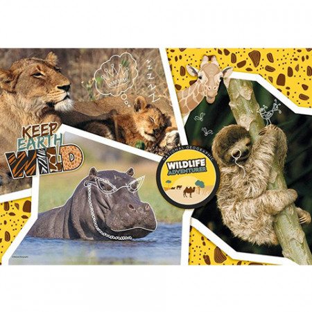 Puzzle Keep Earth Wild National Geographic Kids Clementoni 104 piese
