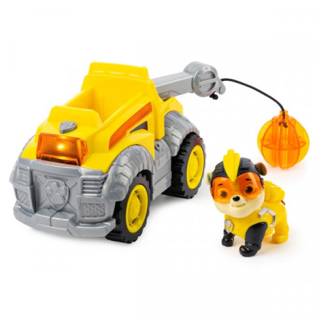 Set de joaca Rubble Deluxe Vehicle Patrula Catelusilor Mighty Pups