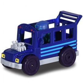Masinuta metalica Autobuzul Ninjalinilor si figurina Ninja Nocturnul Eroi in Pijama