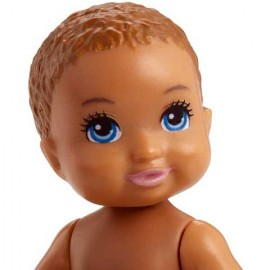 Papusa Bebelus Barbie cu par saten