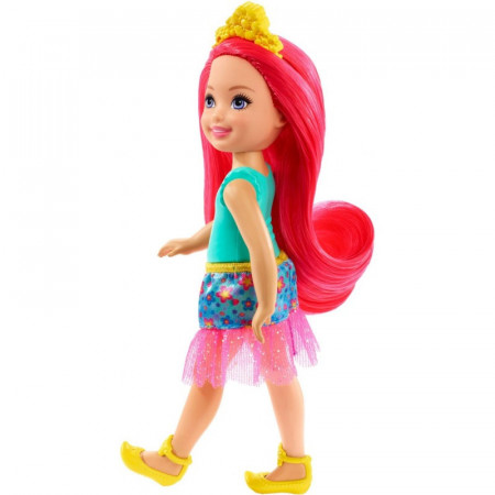 Papusa Chelsea cu par rosu Chelsea Barbie Dreamtopia