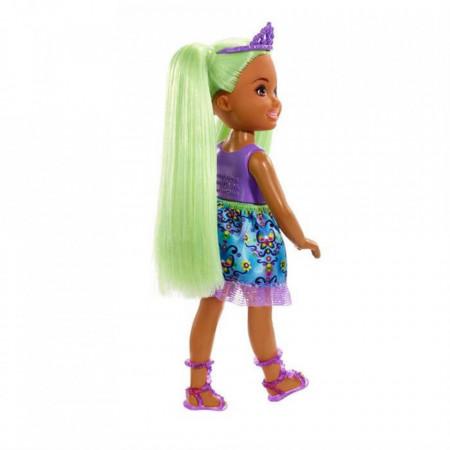 Papusa Sprite cu par verde Chelsea Barbie Dreamtopia