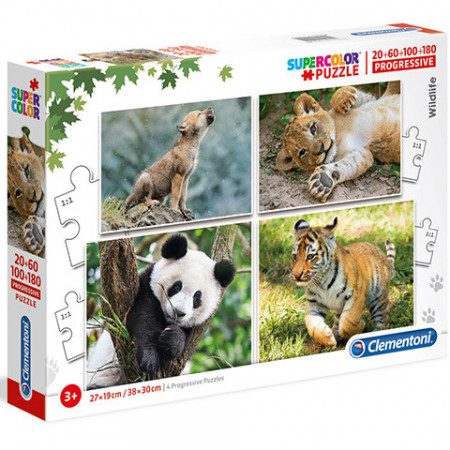 Puzzle Animale 4 in 1 Clementoni 360 piese