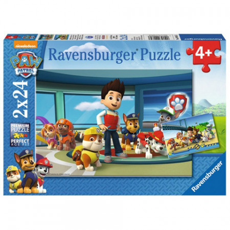 Puzzle Patrula Catelusilor 2x24 Ravensburger