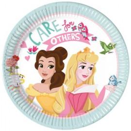 """Set 8 farfurii de unica folosinta 20 cm """"Care for others"""" Printesele Disney"""