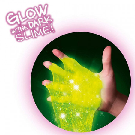 Set de creatie Slime Shaker Fosforescent So Slime 3 pachete