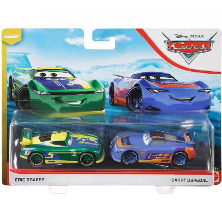Set de masinute metalice Eric Braker si Barry DePedal Cars 3