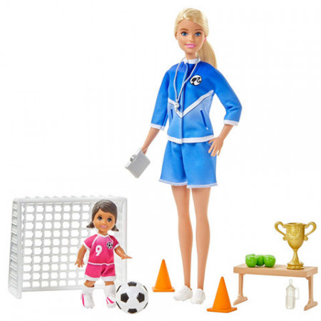 Set papusa Barbie antrenor de fotbal Barbie You Can Be Anything